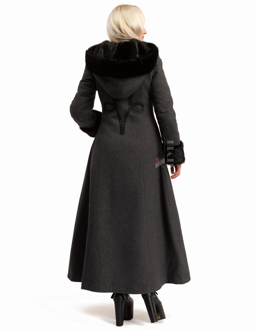 Длинное женское пальто из натуральной шерсти X-Style, 11