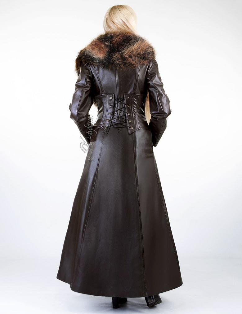 Длинное пальто с меховым воротником X-Style, 3