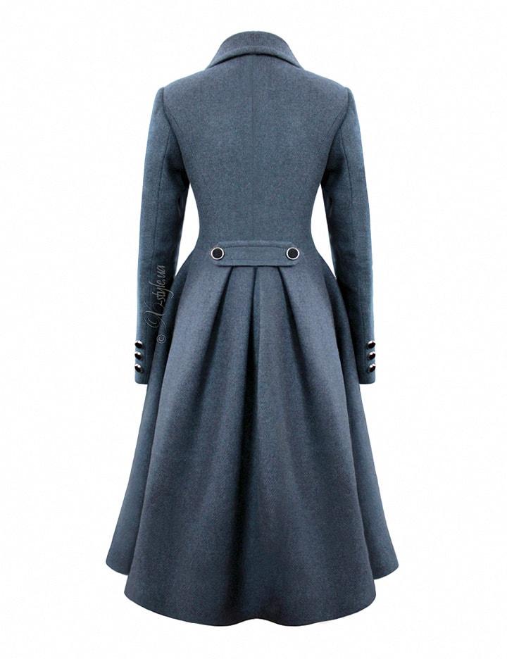 Зимнее пальто из натуральной шерсти 115054, 3