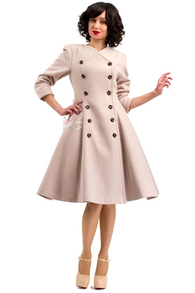 Пальто в стиле Ретро с меховой горжеткой, 11