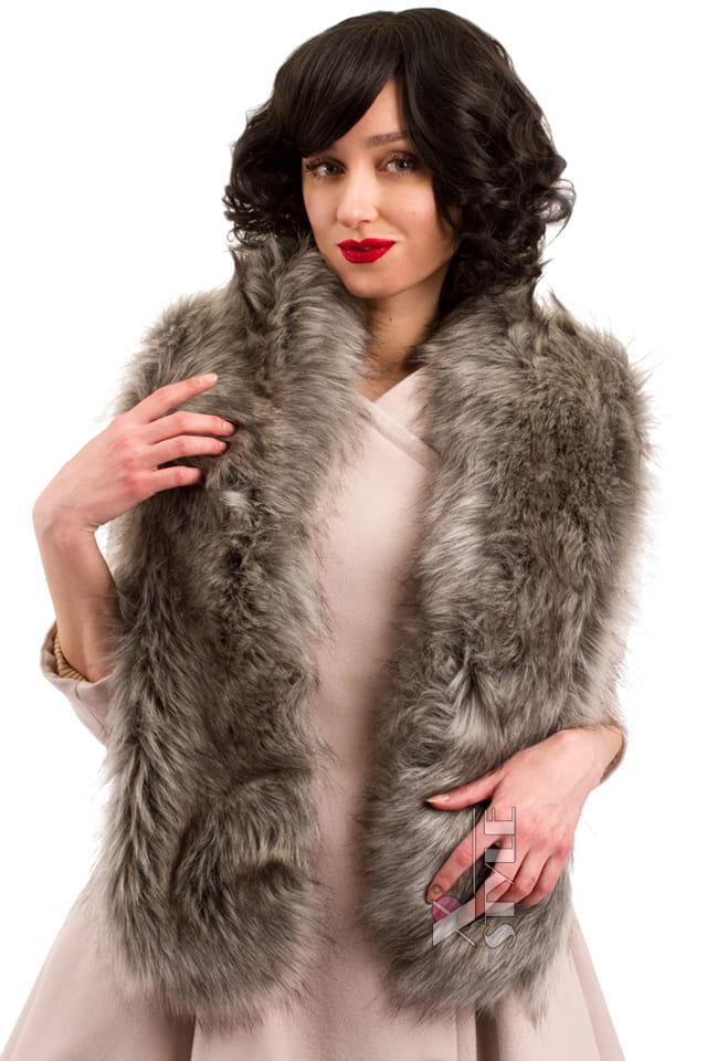 Пальто в стиле Ретро с меховой горжеткой, 5