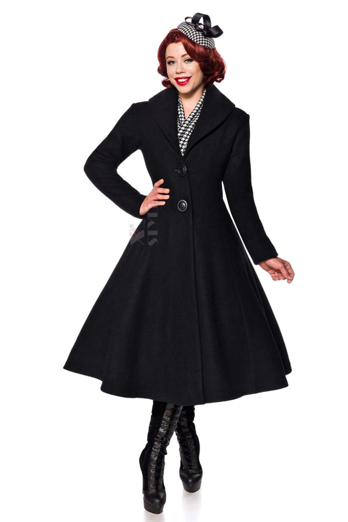 Винтажное длинное пальто из шерсти Belsira, 3