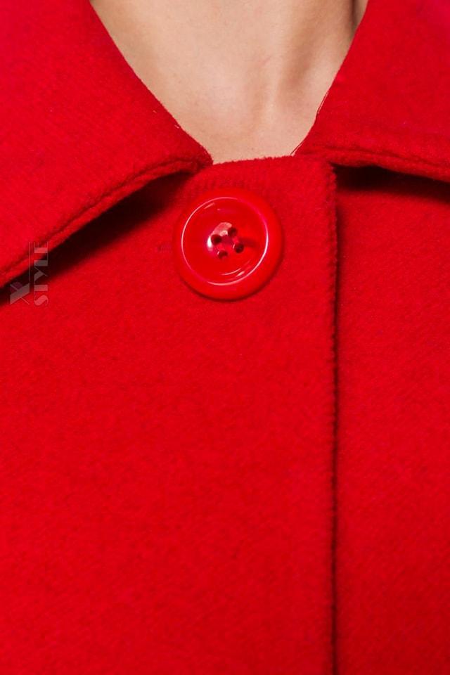 Красное шерстяное полупальто Belsira, 7