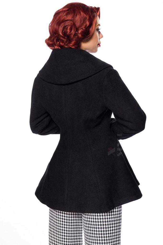 Винтажное полушерстяное пальто B14053, 3