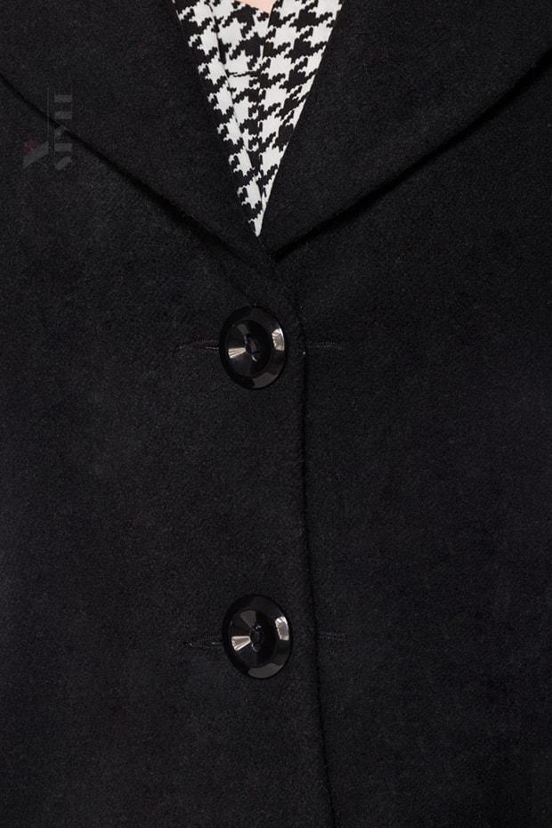 Винтажное полушерстяное пальто B14053, 5