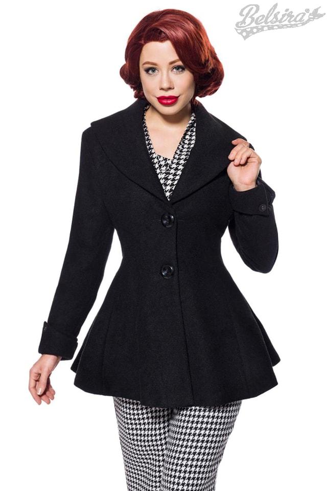 Винтажное полушерстяное пальто B14053