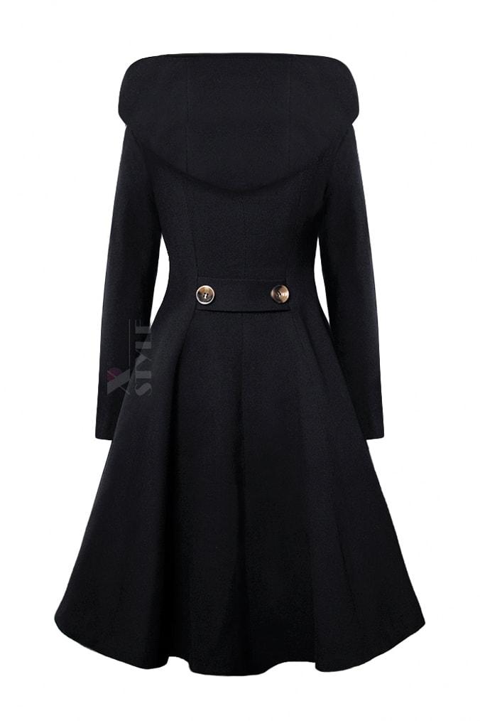 Пальто зимнее с капюшоном (100% шерсть), 3