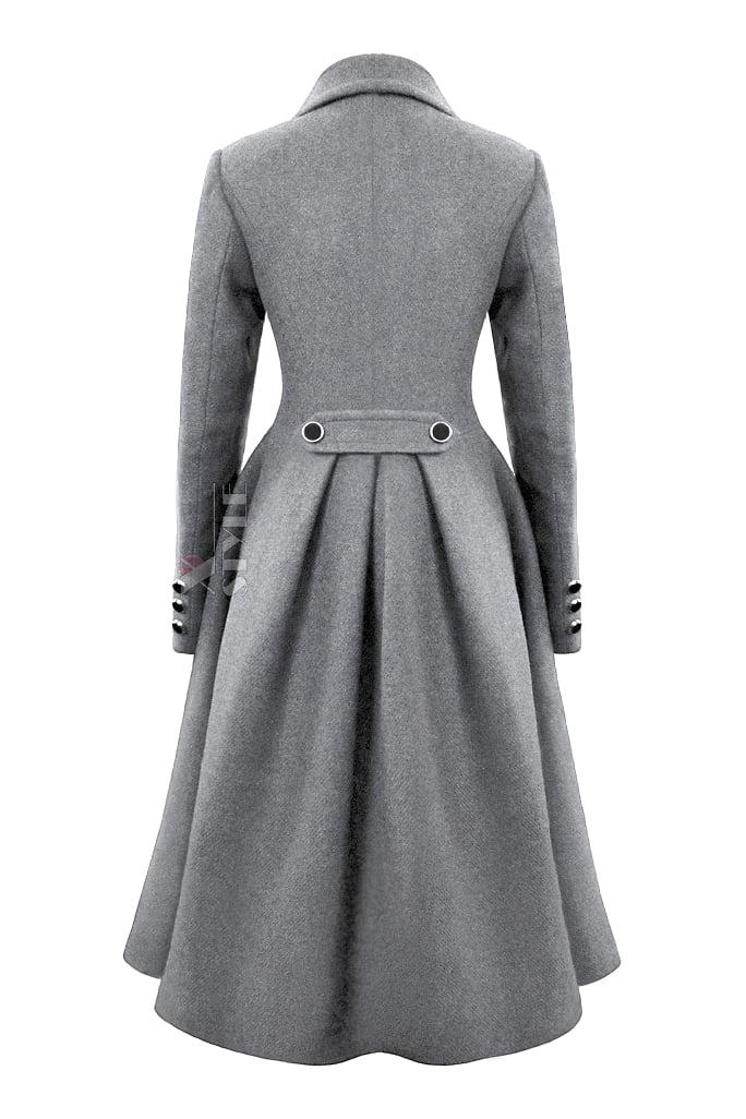 Зимнее шерстяное пальто X5054, 3