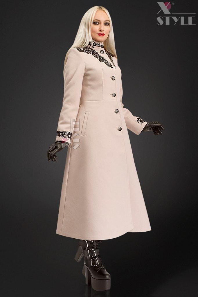 Длинное зимнее пальто женское X5057