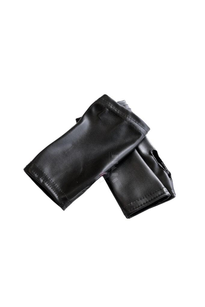 Кожаные митенки XA165, 3
