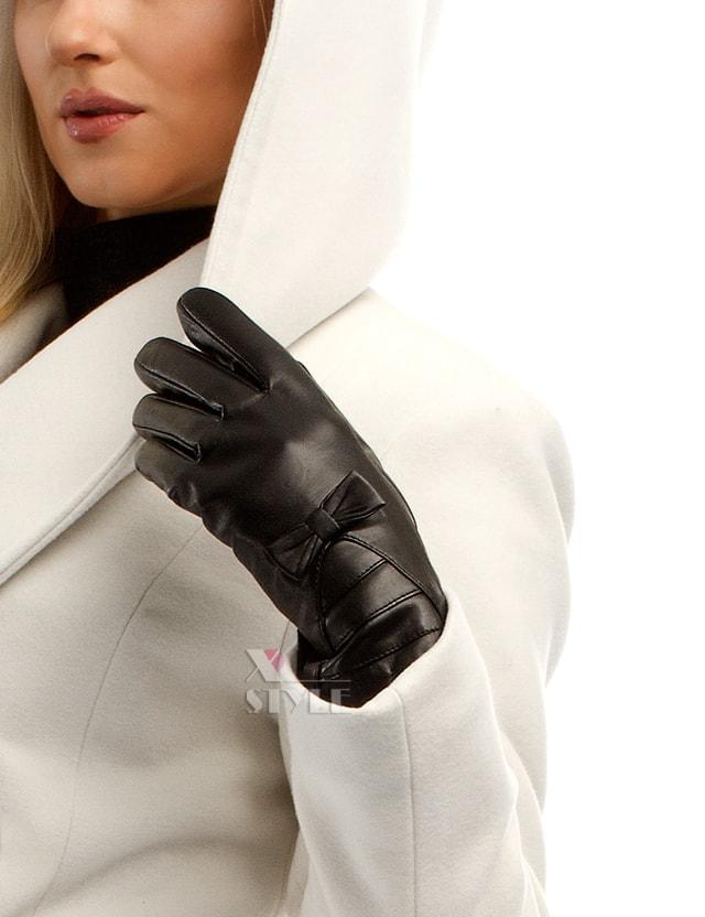 Зимние кожаные перчатки с мехом, 5