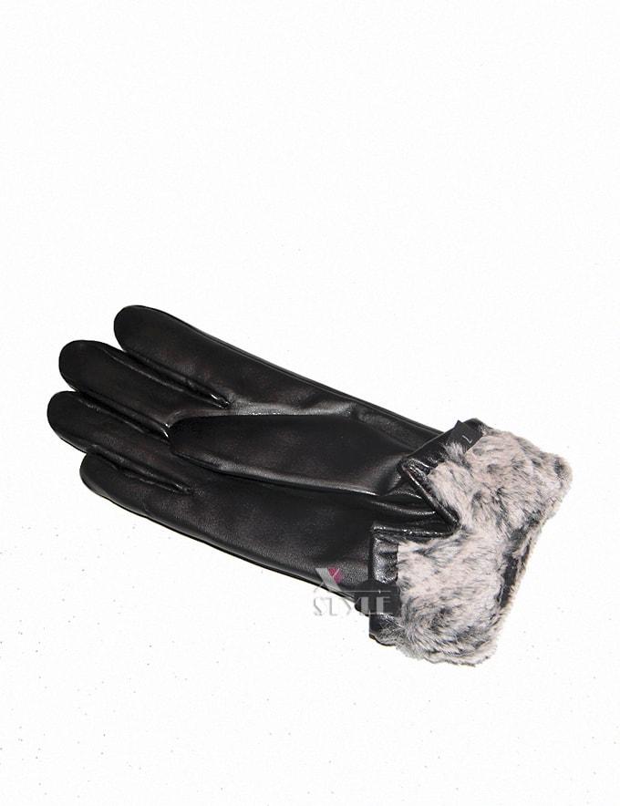 Зимние кожаные перчатки с мехом, 3