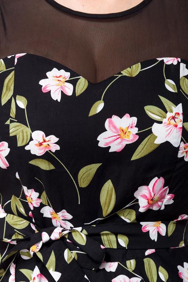 Платье в стиле Ретро с цветочным узором B5516, 3