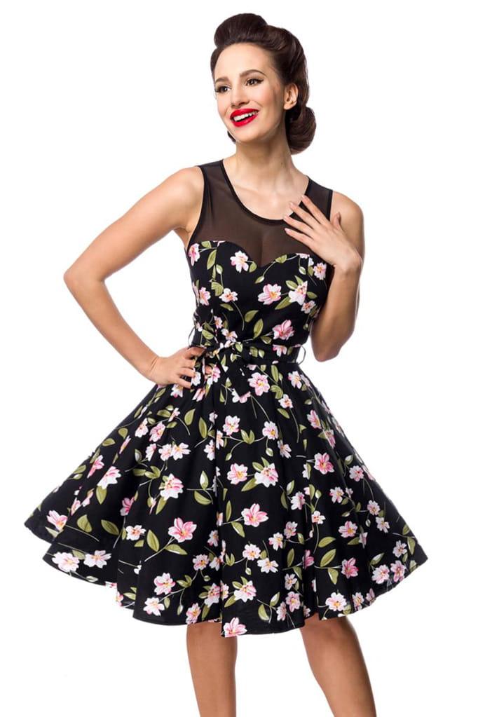 Платье в стиле Ретро с цветочным узором B5516, 11