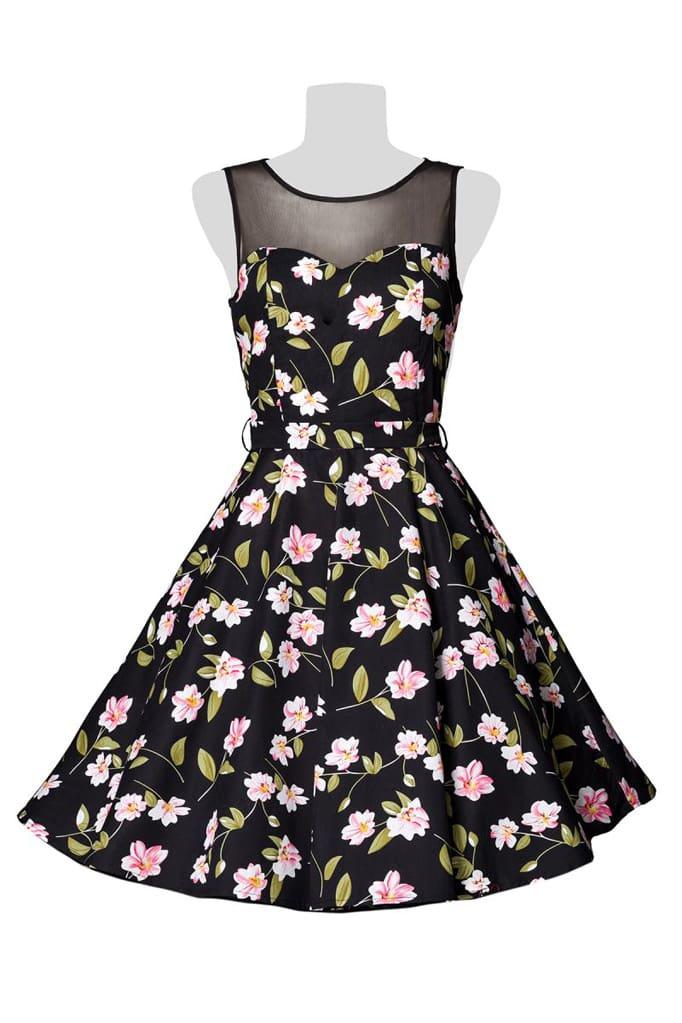 Платье в стиле Ретро с цветочным узором B5516, 9