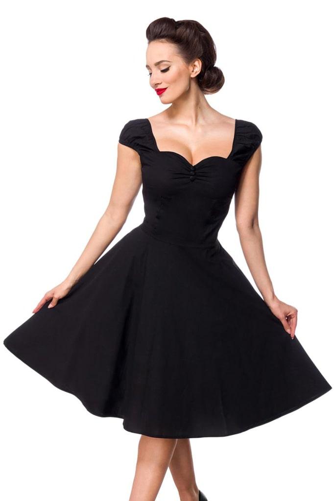 Хлопковое платье Ретро с декольте B519, 11
