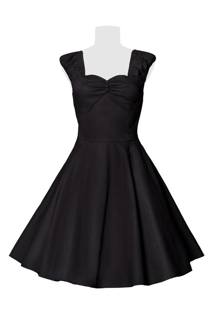 Хлопковое платье Ретро с декольте B519, 3