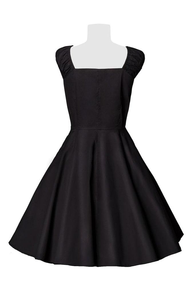 Хлопковое платье Ретро с декольте B519, 5