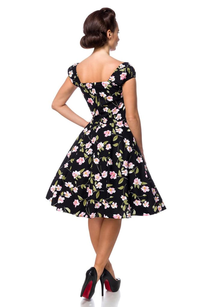 Винтажное платье с цветочным принтом B5520, 5