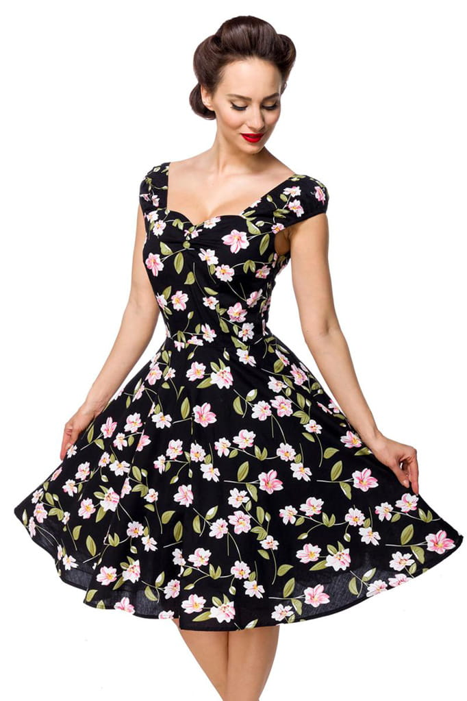 Винтажное платье с цветочным принтом B5520, 7