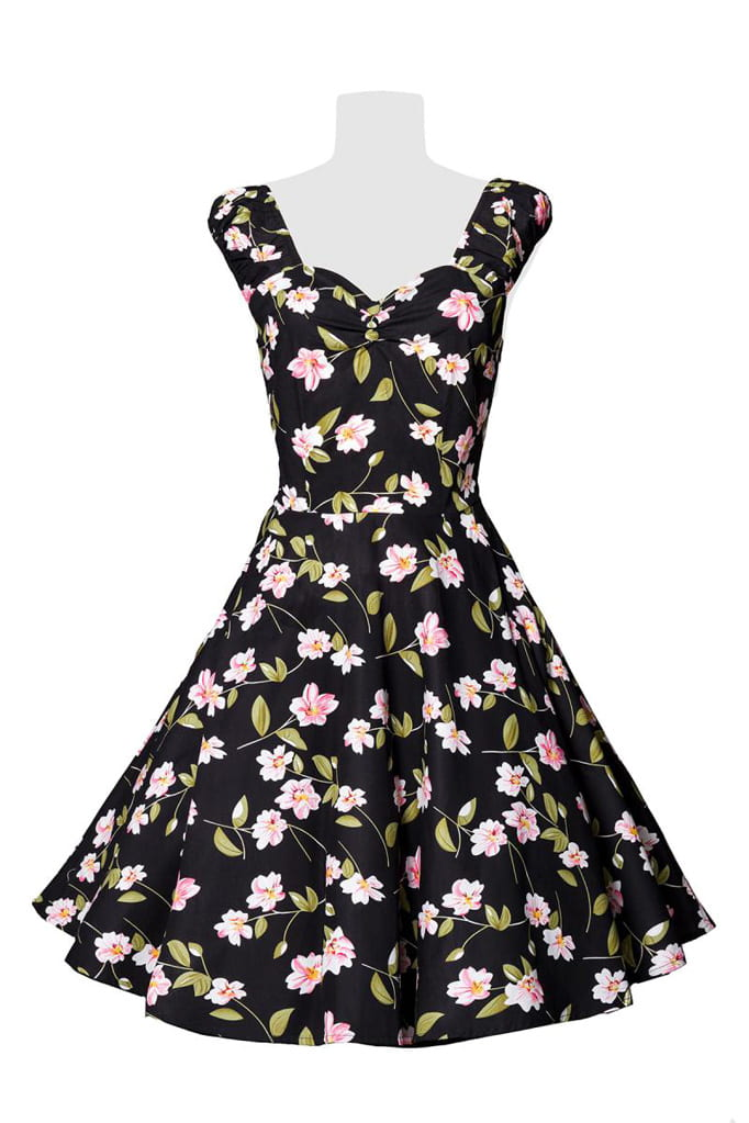 Винтажное платье с цветочным принтом B5520, 9