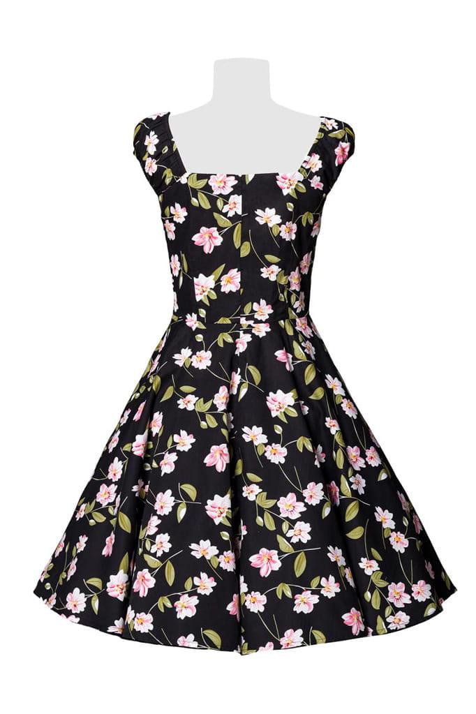 Винтажное платье с цветочным принтом B5520, 11
