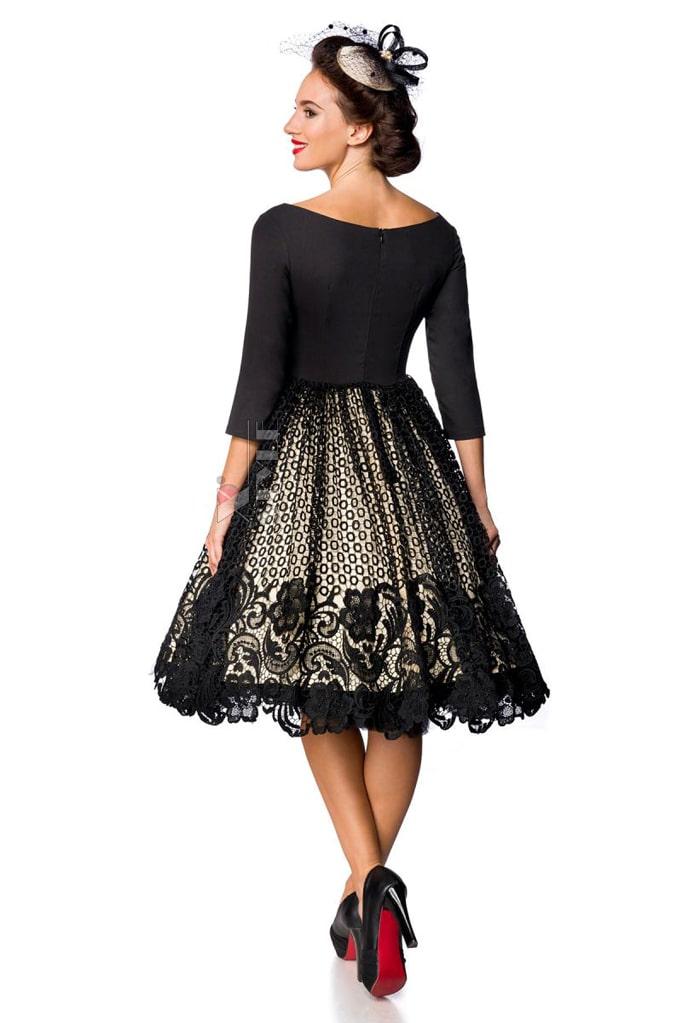 Винтажное платье с кружевом на юбке B5387, 7