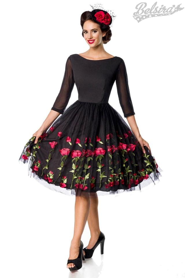 Винтажное платье с вышивкой на юбке Belsira