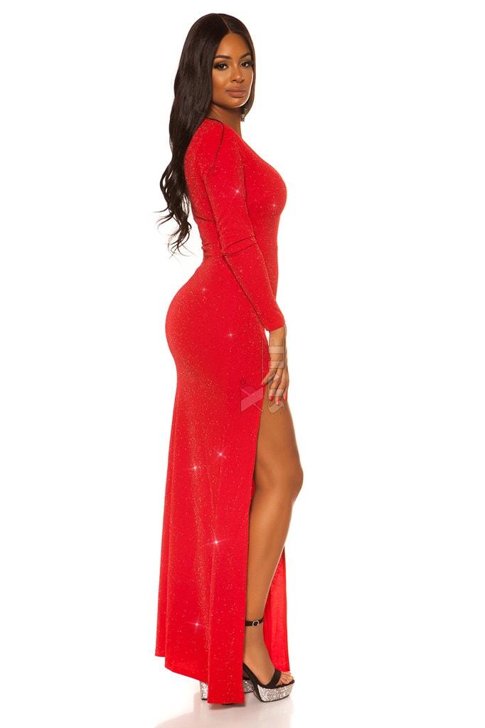 Длинное вечернее платье с блестками KouCla, 9