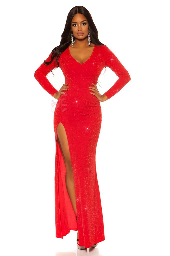 Длинное вечернее платье с блестками KouCla, 7