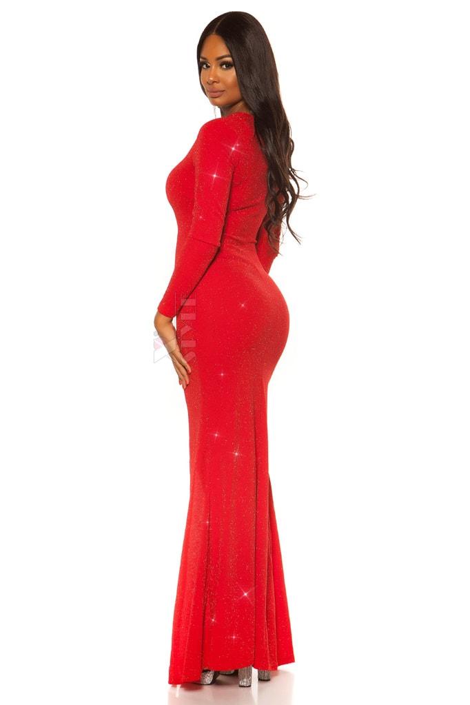 Длинное вечернее платье с блестками KouCla, 5