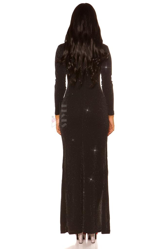 Длинное праздничное платье с блестками KC448, 11
