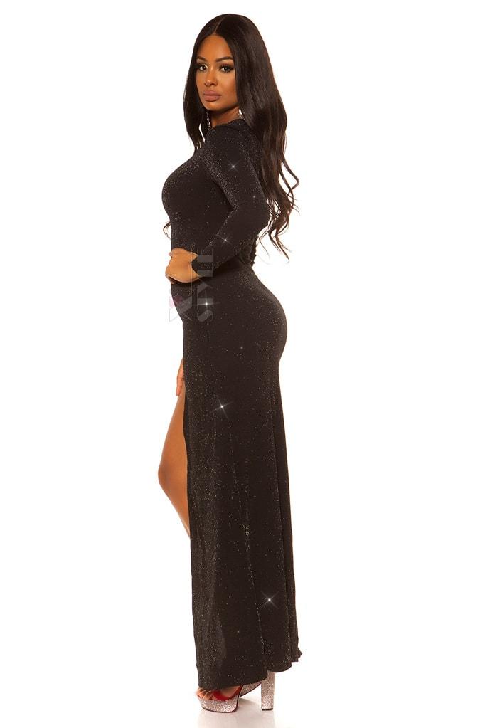 Длинное праздничное платье с блестками KC448, 3