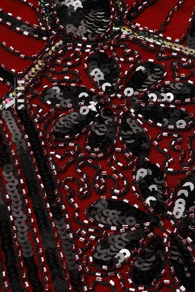 Платье с пайетками и бахромой в стиле 20-х XC299, 9