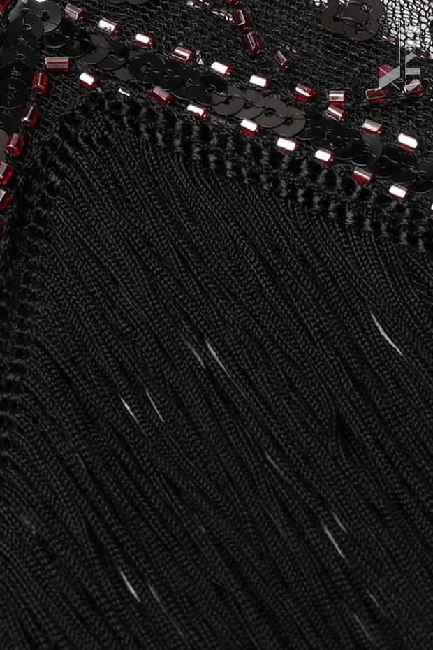 Платье с пайетками и бахромой в стиле 20-х XC299, 11