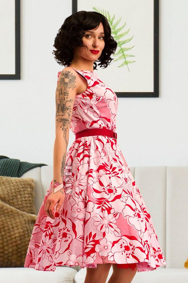 Летнее платье с цветочным узором X5349, 9