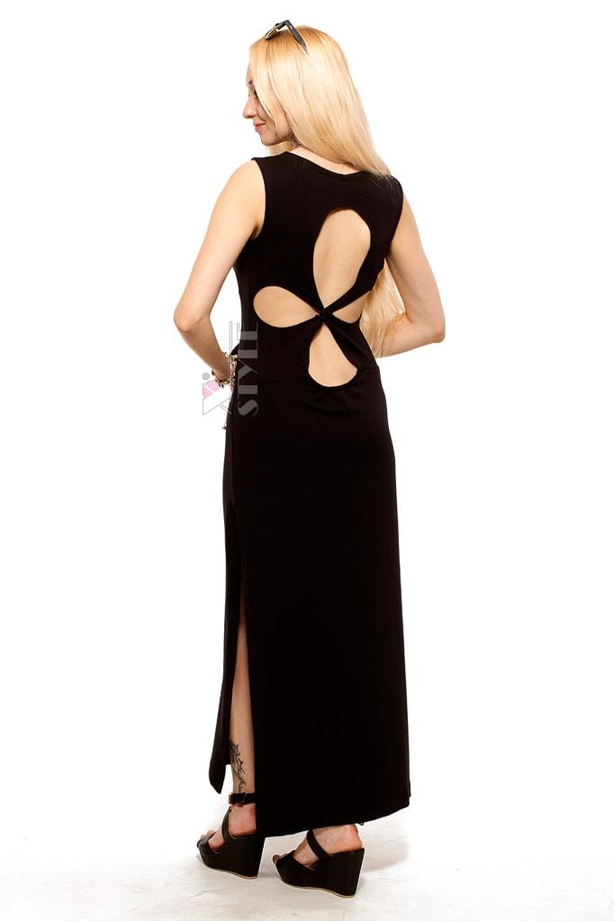 Длинное платье с вырезами на спине X5465, 3
