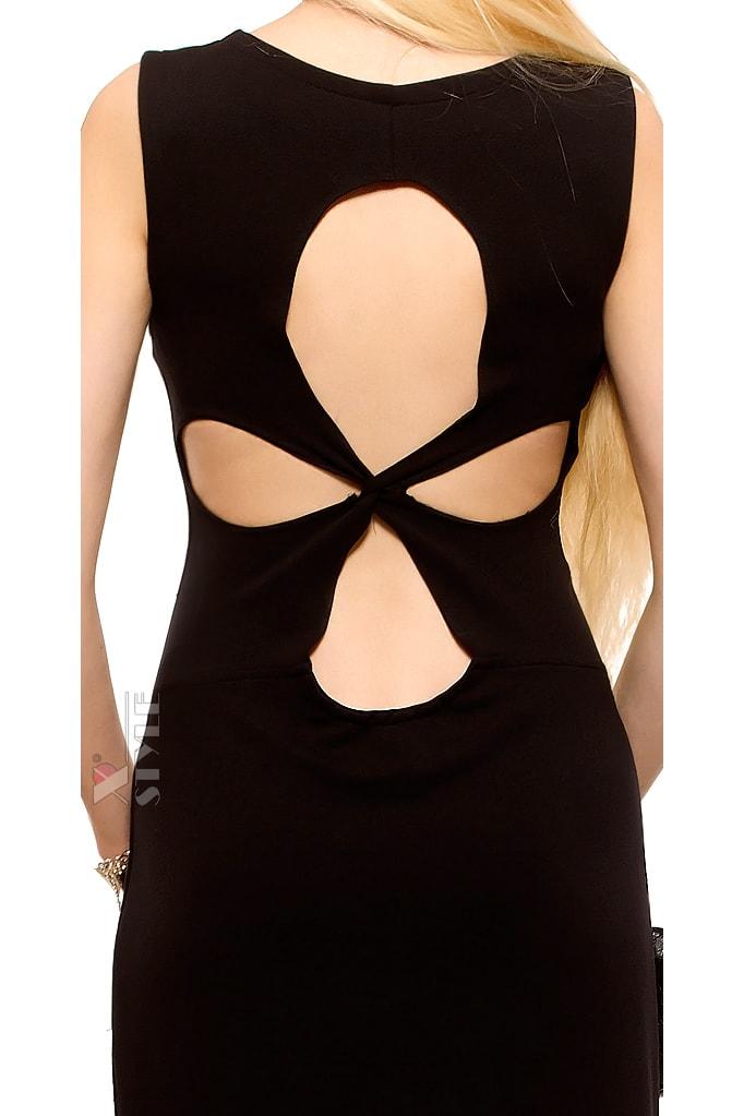 Длинное платье с вырезами на спине X5465, 5