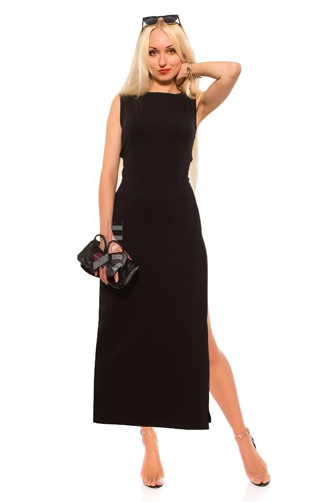 Длинное платье с вырезами на спине X5465, 7