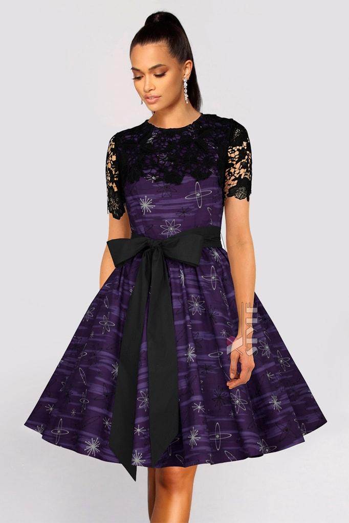 Платье с шалью и поясом XC5464, 7