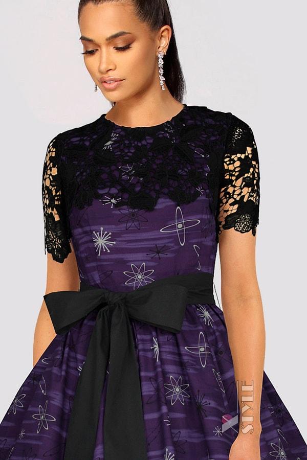 Платье с шалью и поясом XC5464, 5