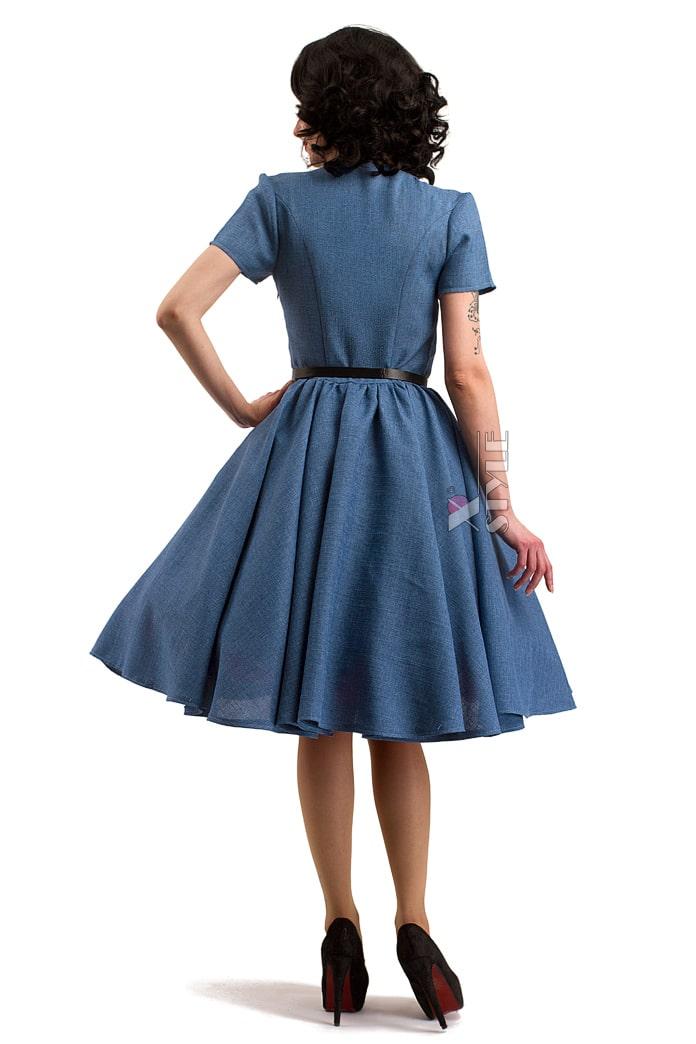 Винтажное льняное платье X5353, 3