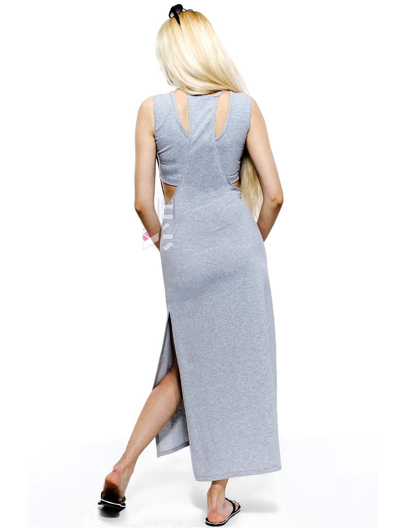 Длинное платье с глубоким вырезом X5136, 3