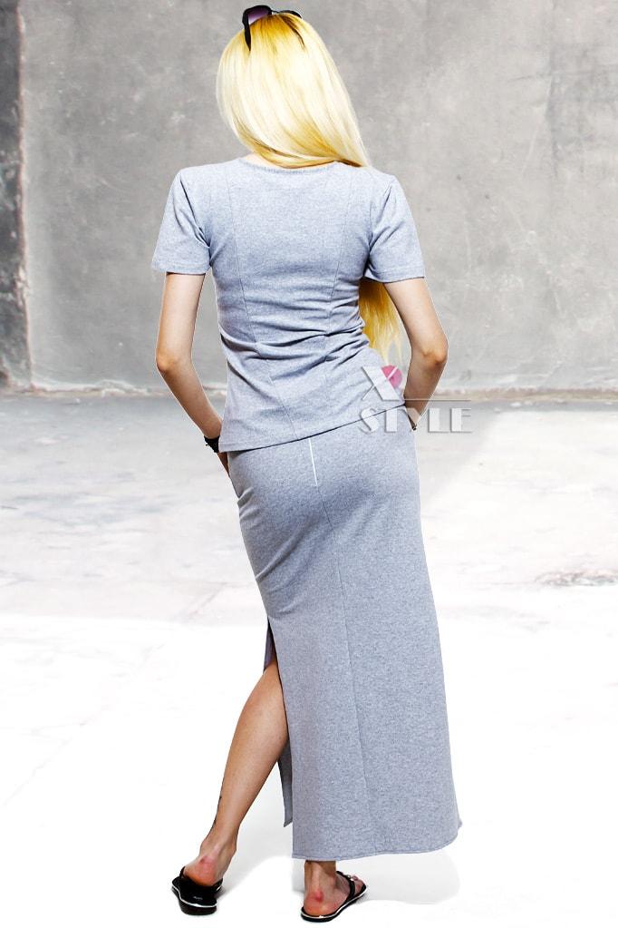 Летняя футболка и юбка с прорезями, 3