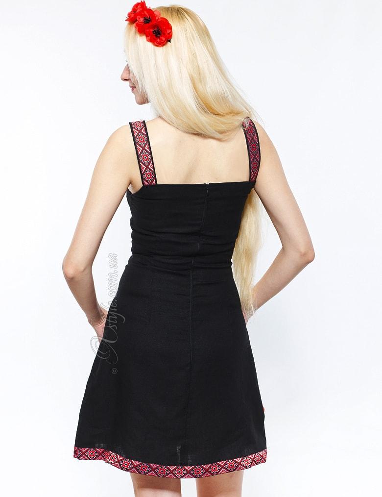 Льняное платье с цветами и вышивкой Xstyle, 3