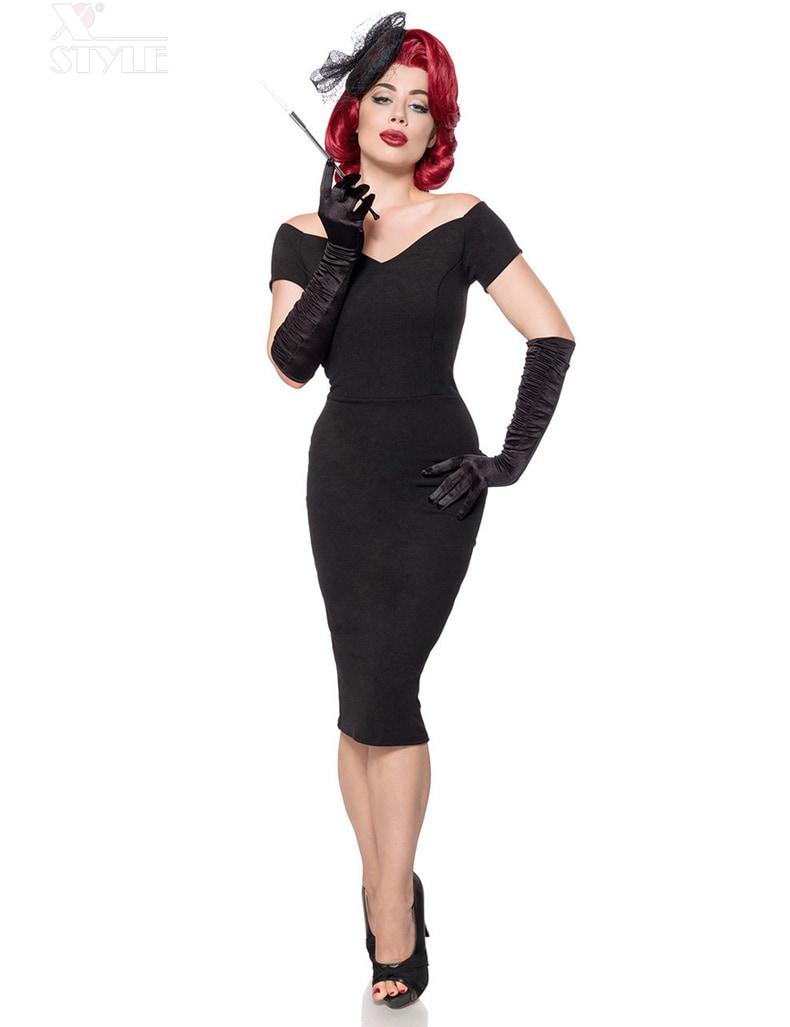 Черное платье в стиле Ретро Belsira, 5