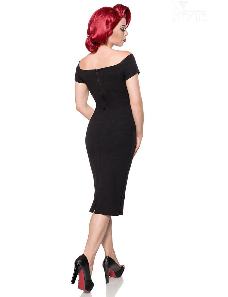 Черное платье в стиле Ретро Belsira, 3