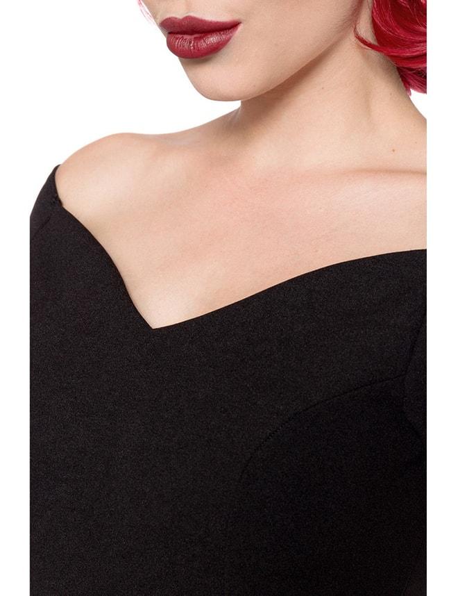 Черное платье в стиле Ретро Belsira, 7