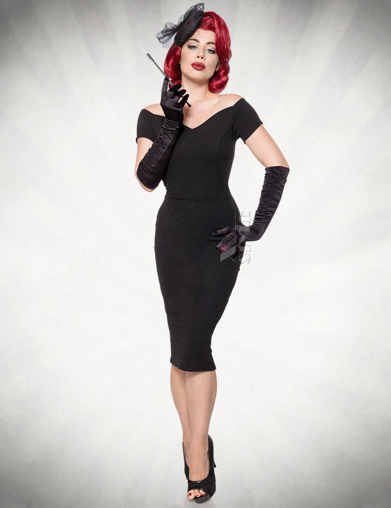 Черное платье в стиле Ретро Belsira, 9