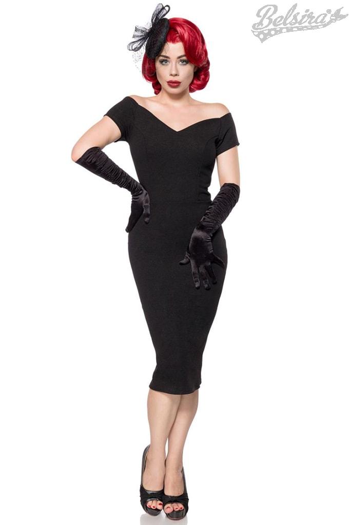Черное платье в стиле Ретро Belsira